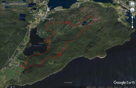Our route across Solavågsfjellet