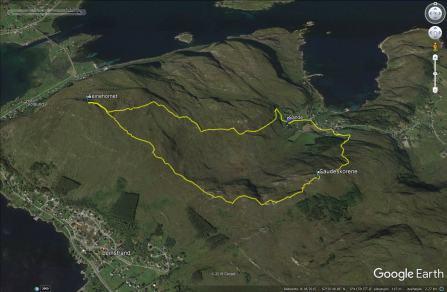 Our route across Leinehornet
