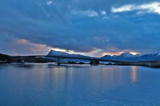 The Eiksund bridge with Laupsnipa beyond