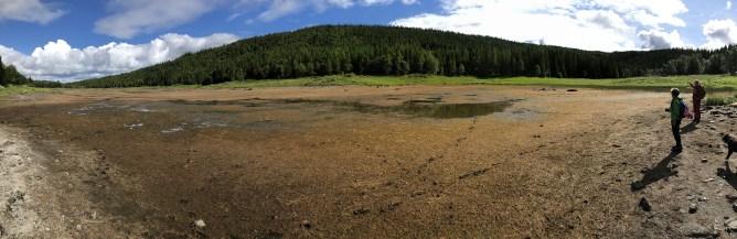 A whole dry lake!