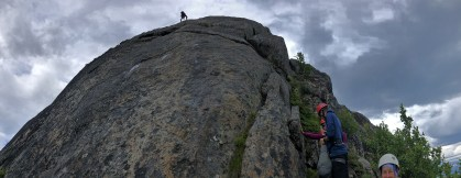 Ivar on the final rappel