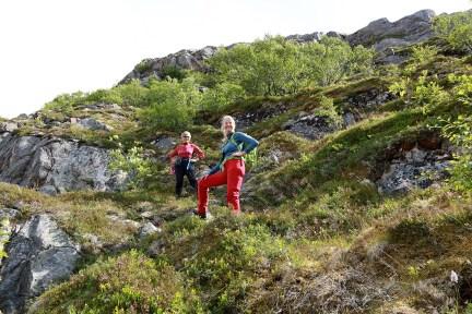 Mom - back in steep terrain