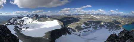Iphone8 panorama from Falketind 1/2