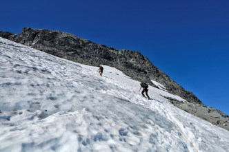 The glacier is getting steeper