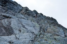 Rappelling the exposed pitch