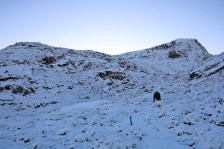 Entering rocky terrain