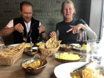At Indian restaurant in Mosjøen