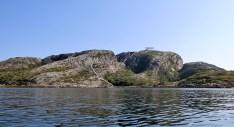 Our route up Høgmana