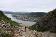 Enjoying Sherpa stairs in Mosjøen