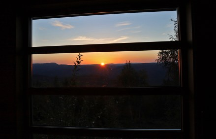 Early morning, cabin view