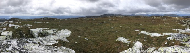 Iphone8 panorama from Nybufjellet