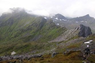 Descending from the ridge