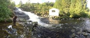 Tjørvågelva - this is normally a creek!