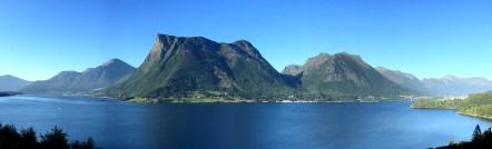 Liadalsnipa, seen across the fjord