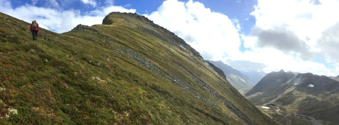 Arriving on the ridge
