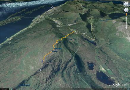 My route to Lønsetfjellet
