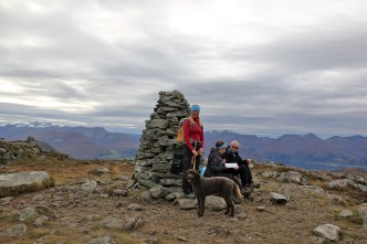 By the Melshornet summit cairn
