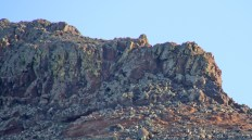 The cliff, zoomed in