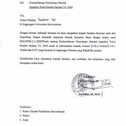 Informasi Penerimaan Inspektur Polisi Sumber Sarjana di Lingkungan Universitas Baiturrahmah