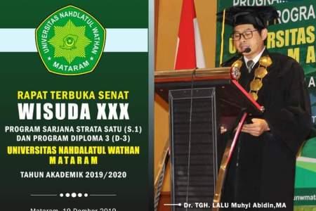 UNW Mataram Gelar Wisuda ke-XXXI Periode Tahun Akademik 2019/2020