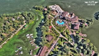 Photo of 'Bartolomeo' river resort taken with quadcopter in summer