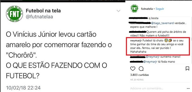 Neymar defende Vinicius Junior