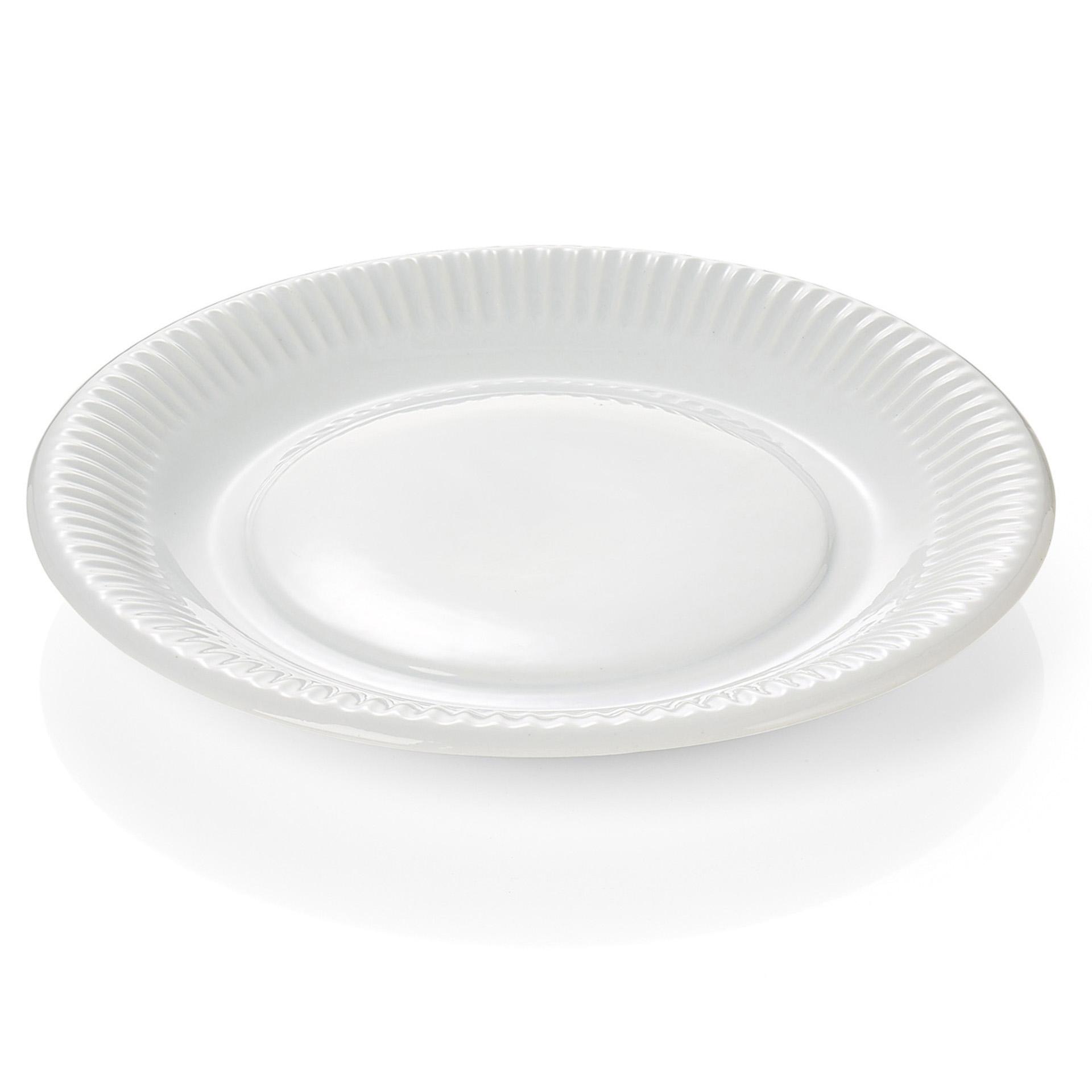 6 er Set Ess-Teller Durchmesser 28cm  Melamin Geschirr