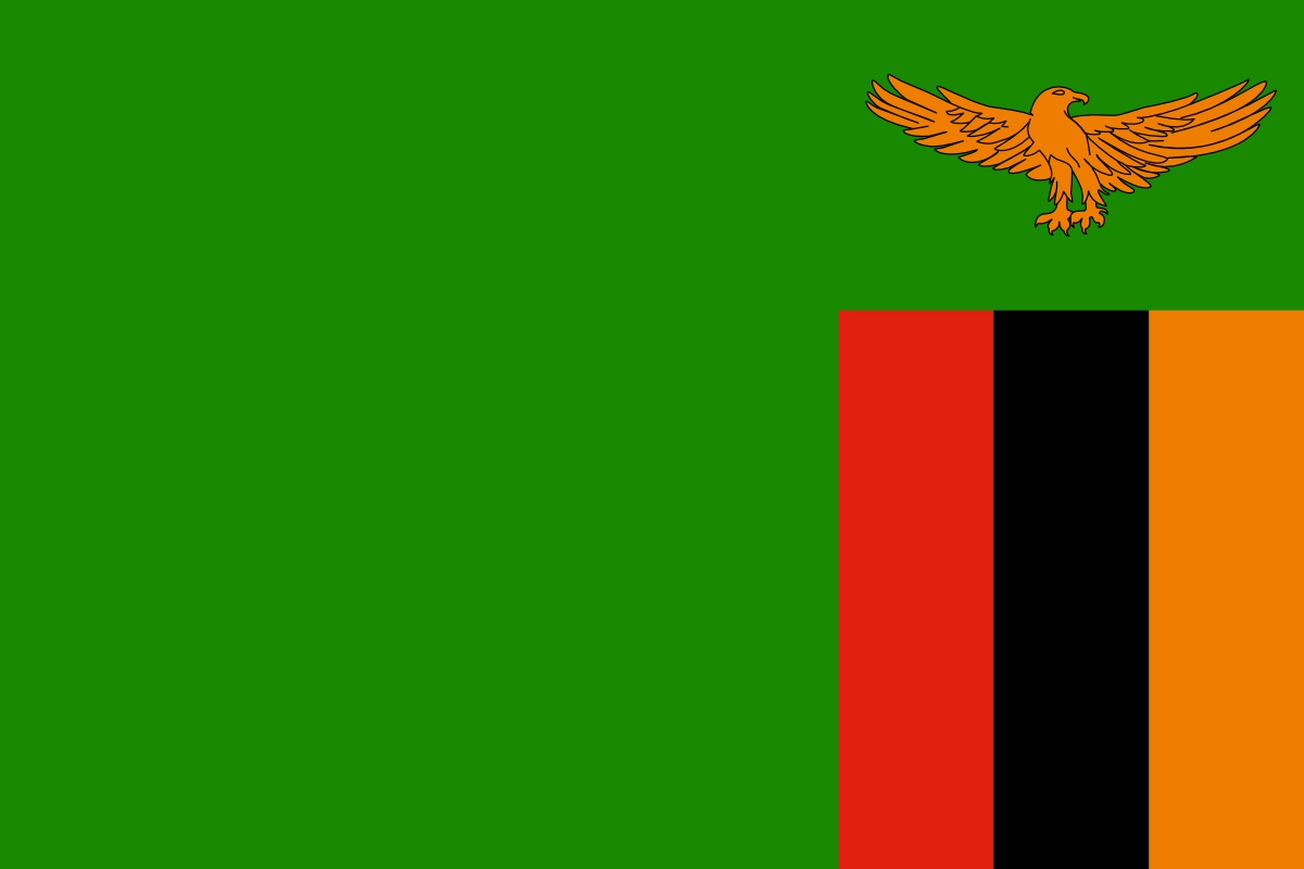 Zambia Flag Coloring Pages