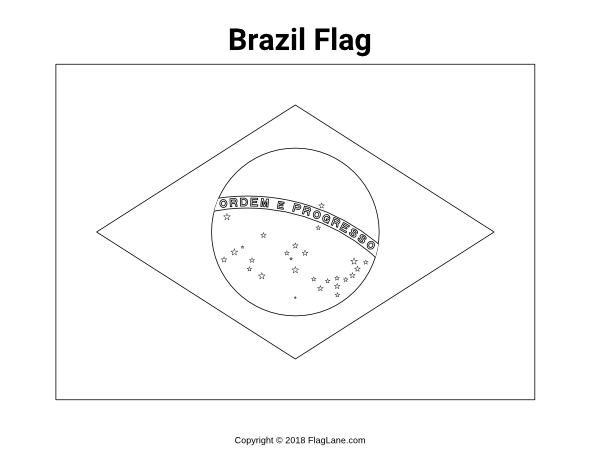 Free South American Flag Coloring Pages