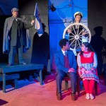"""The City Repertory Theatre production of """"Around the World in 80 Days"""" stars, clockwise from top left: Beau Wade, Bethany Stillion, Brittany Tellis and Brent Jordan. (Mike Kitaif)"""