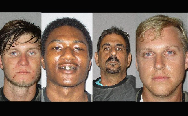 From left, Andrew J. Krupp, 20, of Palm Coast, Qwajon R. Laster, 20, of Bunnell, Raymond Amara, 54, of Palm Coast, and Jacob Robertson of Flagler Beach