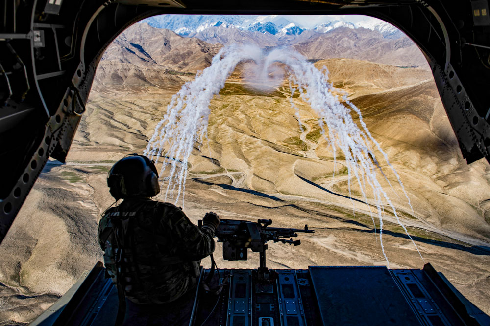 It didn't work for the Soviets. It wasn;t going to work for the Americans. A mission over Afghanistan in 2018. (Department of Defense)