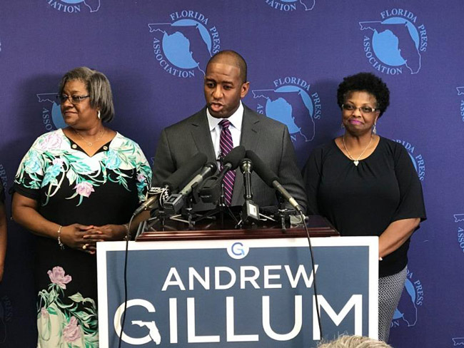 Gillum is proposing to provide a minimum $50,000 starting salary for teachers by increasing the state corporate-income tax by $1 billion. (NSF)