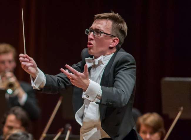 Nathan Aspinall, the Australian-born associate conductor of the Jacksonville Symphony, will be at the podium for the Palm Coast Arts Foundation's 11th annual Picnic and Pops concert. (Fran Ruchalski)