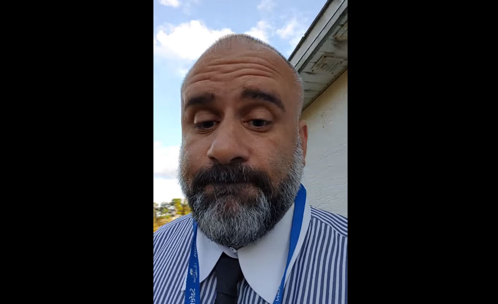 Victor Barbosa, the Palm Coast City Council member, in a still from a prosecutorial Facebook video he posted about a property in the city.