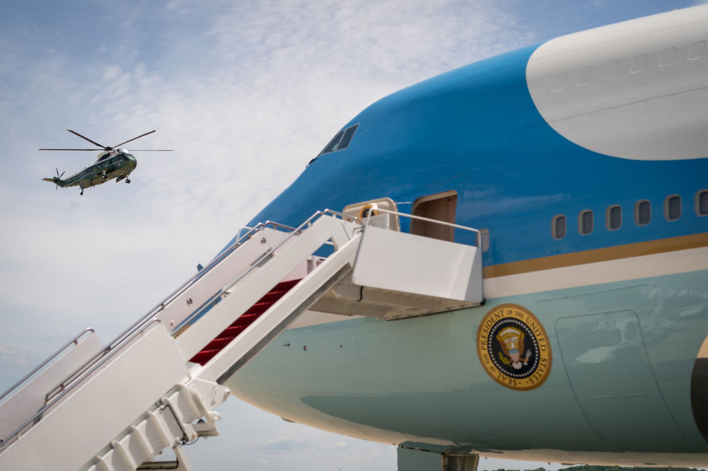 Off to Europe. (White House)
