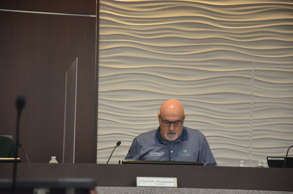 Vice Mayor Eddie Branquinho will be serving as mayor until Milissa Holland's position is filled by a special election. (© FlaglerLive)