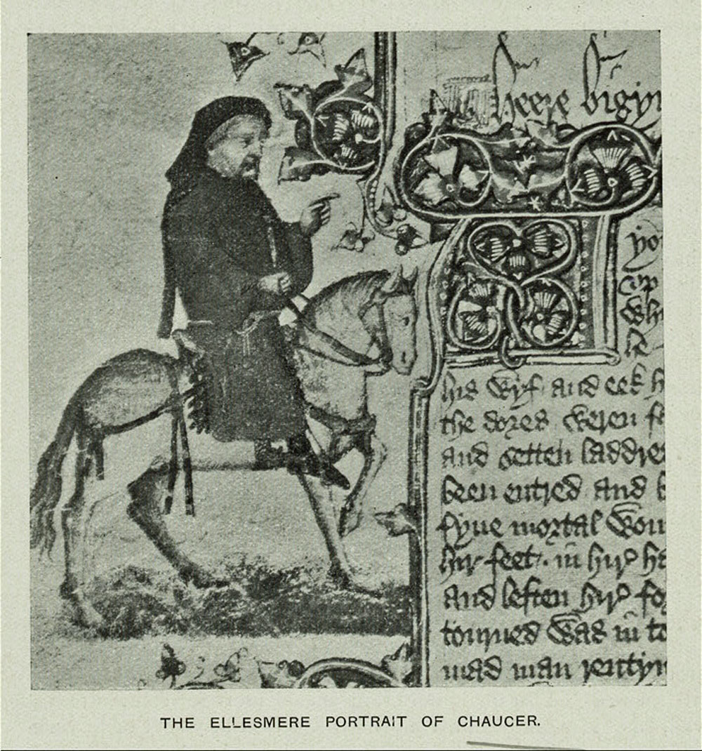 """""""Geoffrey Chaucer"""" The New York Public Library Digital Collections."""