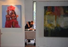 Christine Sullivan, settling in. Click on the image for larger view. (© FlaglerLive)