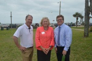 The three congressional candidates: from left, John Upchurch, Nancy Soderberg and Stephen Sevigny. Click on the image for larger view. (© FlaglerLive)