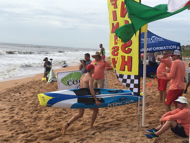 The 2018 Coquina Cup Lifeguard Challenge continues Friday and Saturday in Flagler Beach. See below. (© FlaglerLive)
