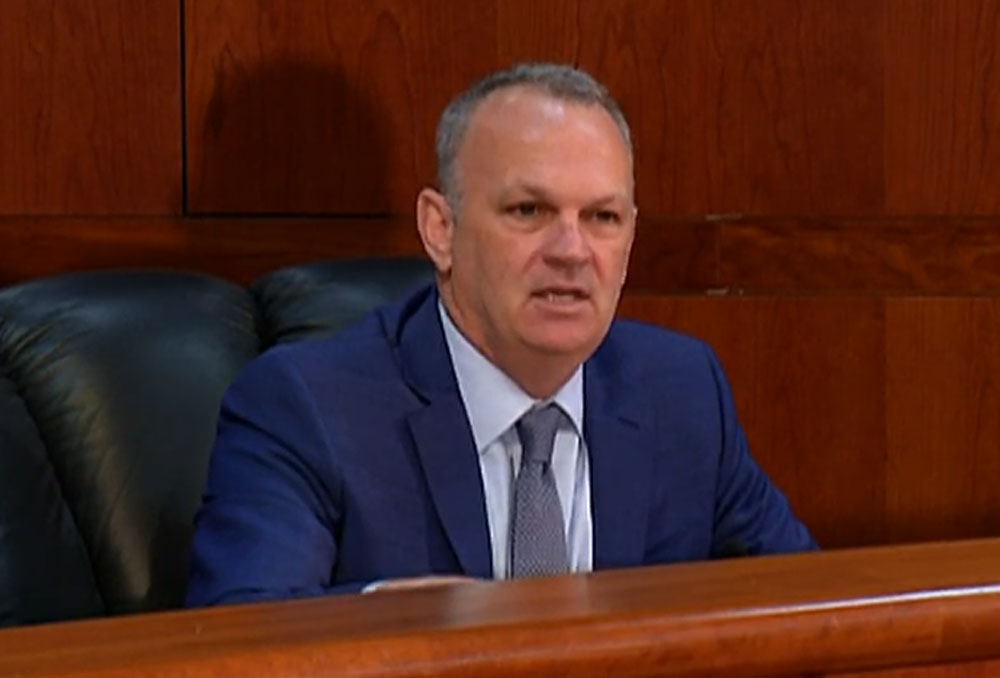 Florida Education Commissioner Richard Corcoran in May. (Florida Channel.)