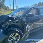 The Chevy Equinox driven by an 18-year-old resident of Palm Coast's F Section after the crash. (FCSO)