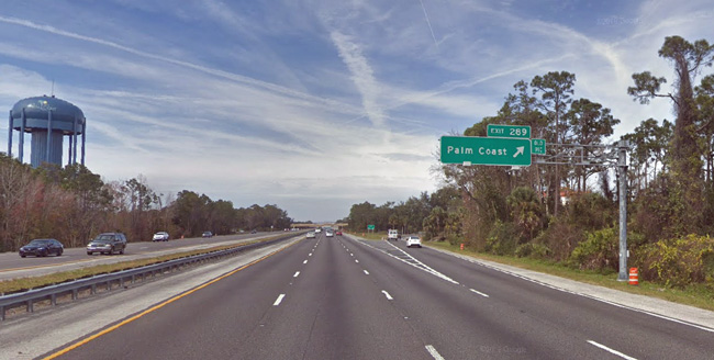 The crash took place at the Palm Coast Parkway exit at I-95 northbound.