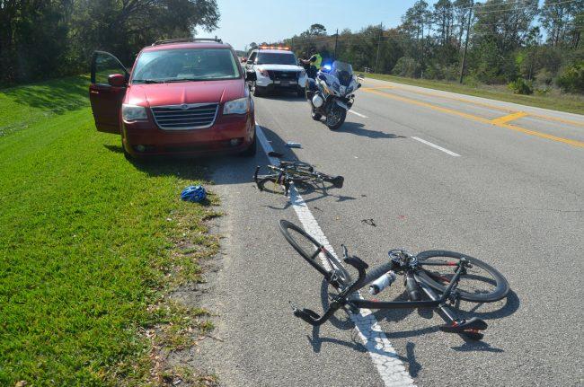 cyclists rear-end van