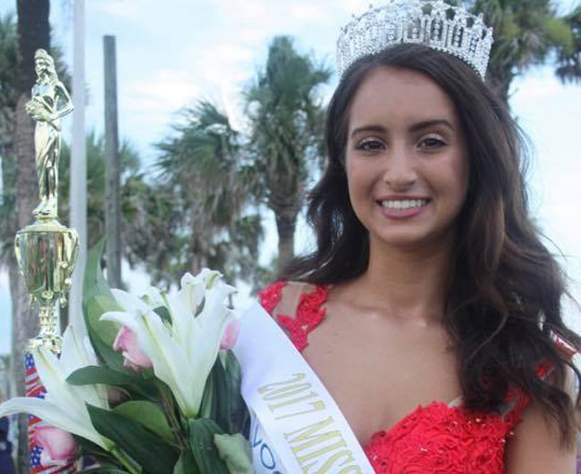 Daria Tutino, a student at Matanzas High School, was crowned 2017 Miss Flagler over the July 4 weekend in Flagler Beach. (Facebook)