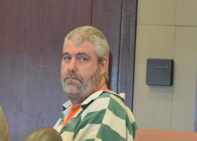 David Snelgrove in his last court appearance in Flagler, in May 2015. (© FlaglerLive)