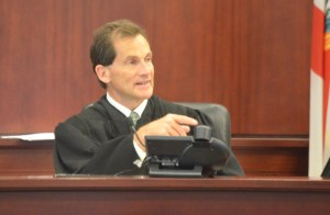 Circuit Judge Dennis Craig is presiding over his last murder case in Flagler before transferring to Volusia's felony court next month. (© FlaglerLive)