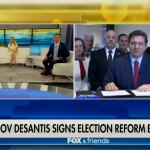 """Gov. Ron DeSantis signed the controversial bill on """"Fox & Friends"""" this morning."""