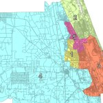 Flagler County's current districts, which apply both to the county commission and the school board.